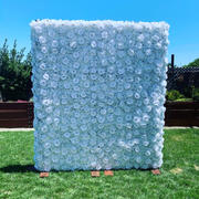 tableclothsfactory.com 4 Panels 11 Sq ft. UV Protected 3D White Silk Rose & Hydrangea Flower Wall Mat Panel Review