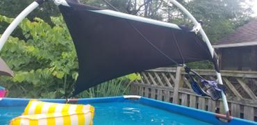 tableclothsfactory.com Triangle Tarps for Shade | 6 Ft 3 Point | Black Stretchy Spandex Backdrops | Ceiling Wall Patio Sails with Grommets Review