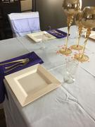 tableclothsfactory.com 12 Pack - 7oz Gold Glittered Clear Disposable Plastic Wine Cups Review