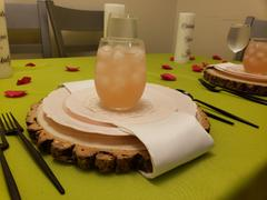 tableclothsfactory.com 12 Dia | Rustic Natural Wood Slices | Round Poplar Wood Slabs | Table Centerpieces Review