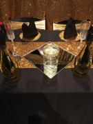 tableclothsfactory.com 5 pack Metallic Gold Spandex Chair Sashes With Attached Round Diamond Buckles Review