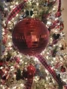 tableclothsfactory.com 4 Pcs | 6 Red Glass Disco Mirror Balls with Hanging String | Christmas Ornaments - Clearance SALE Review