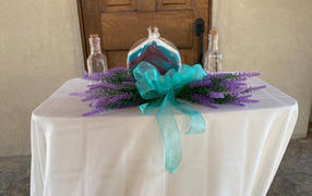 tableclothsfactory.com 4 Bushes | 14 Artificial Lavender Bouquet | Artificial Wedding Bouquet Review