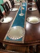 tableclothsfactory.com 2 Pack - 13 Silver Jeweled Rim Premium Glass Mirror Charger Plates Review