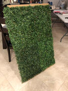 tableclothsfactory.com 11 Sq ft. | 4 Panels Artificial Boxwood Hedge Small Leaves Faux Foliage Green Garden Wall Mat Review