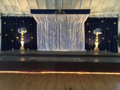 tableclothsfactory.com 20FT x 10FT Champagne Metallic Shiny Spandex Glittering Backdrop Review