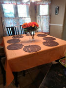 tableclothsfactory.com 90 Orange Square Polyester Tablecloth Review