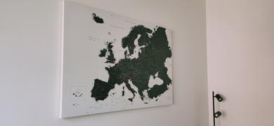 Trip Map Europe Push Pin Map – Black and white (Detailed) Review
