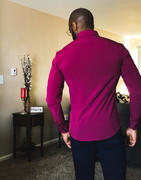 TAILORED ATHLETE Elite Double Cuff Shirt In Light Blue Review