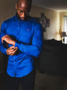 TAILORED ATHLETE Bamboo Signature Shirt (Limited Edition) in Royal Blue Review