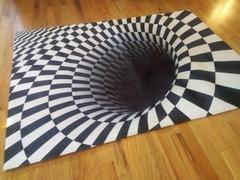 DecorZee 3D Black & White Geometric Swirl Area Rug Floor Mat Review