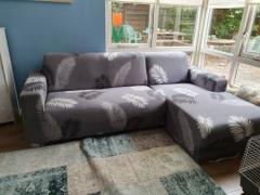 DecorZee Gray Fern / Palm Leaf Pattern Sofa Couch Cover Review