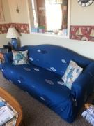 DecorZee Simple Blue Fish Pattern Sofa Couch Cover Review