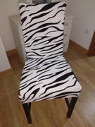DecorZee Black & White Zebra Print Dining Room Chair Cover Review
