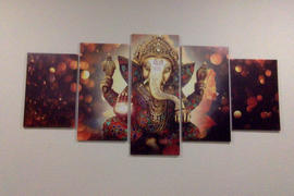 DecorZee 5-Piece Hindu Ganesha Elephant God Canvas Wall Art Review