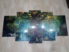 DecorZee 5-Piece Canvas Mystical Enchanted Forest Tree Wall Art Review