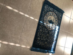 Modefa Plush Velvet Islamic Prayer Rug - Floral Mosque Blue Review