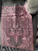 Modefa Shimmery Thin Arched Tulip Islamic Prayer Mat - Pink Review
