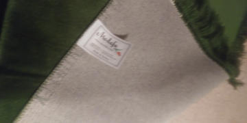 Modefa Solid Simple Velvet Prayer Rug with Tulip - Green Review