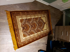 Modefa Double Plush Wide Extra Large Prayer Rug - Paisley Gold Review