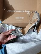 Styletto Silver Pointy Snake Heels Review