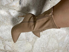 Styletto Taupe sock booties Review