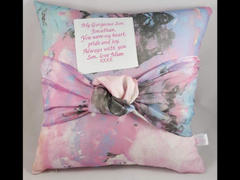 Lily Grace Keepsakes Memory Cushion - Tied Knot Design Review