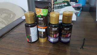 Buywow SAMPLER: WOW Skin Science Red Onion Black Seed Oil Shampoo + Conditioner + Hair Oil + Vitamin C Face wash -  Net Vol - 115 ml Review