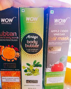 Buywow SAMPLER: WOW Skin Science Onion Black Seed Hair Oil + Ubtan Face & Body Scrub + Moringa Body Butter + Apple Cider Vinegar Hair Mask - Net Vol - 105 ml Review