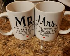 Diverse Threads Mr & Mrs Personalized Mugs (Set of Two) Review