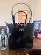 KaryKase Pierre Cardin Scalloped Patent Tote | Black Review