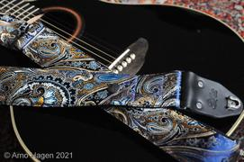 Steyner Straps Paisley Gitarrengurt blau – Indian Ocean Review