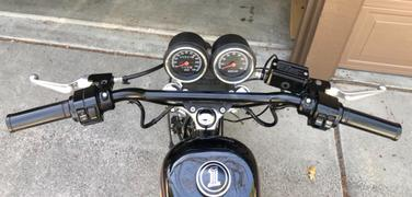 Biltwell Inc. CLOSEOUT Moto Handlebars 1 Dimpled - Black Review