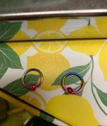 Ouferbodyjewelry 2Pcs 14/16/20G Rainbow Captive Bead Septum Ring Bewertung