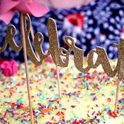 Illume Partyware Celebrate Gold Glitter Cake Topper - 1 Pce Review