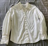 J.ING Erika White Ribbon Cuffed Blouse Review