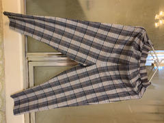 J.ING Ally Grey Checkered Chinos Review