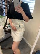 J.ING Kelly White Acid-Wash Mini Skirt Review