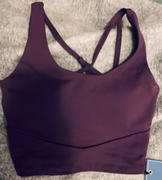 J.ING Purple Eggplant Cross Back Bra Top Review