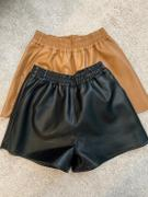 J.ING Camille Black Leather Shorts Review