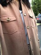 J.ING Sage Tan Longline Shacket Review