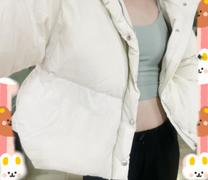 J.ING Cropped Ivory Puffer Jacket Review