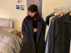J.ING Oversized Charcoal Blazer Coat Review