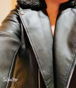J.ING Sleek Black Leather Oversized Jacket Review