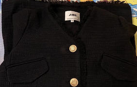 J.ING Melia Black Tweed Coat Review