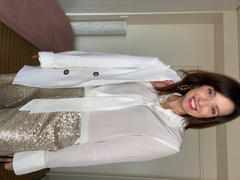 Banded Together Perfect Silk Shirt - Natural White Review