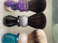 West Coast Shaving WCS Two-Tone Tall Synthetic Shaving Brush, Grey & Black Review