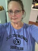 Just Strong Blue Iris Marl Cropped Team Graphic Tee Review