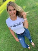 Just Strong White Strive For Stronger Cropped Tee Review