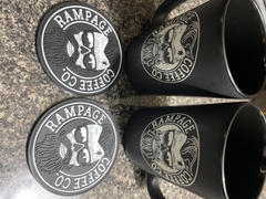 Rampage Coffee Co. Rubber Logo Coasters | Rampage Coffee Co. Review